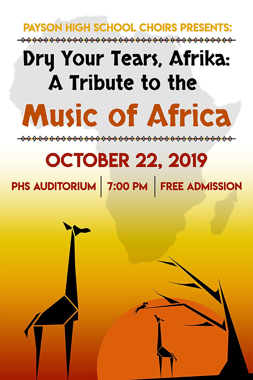 "Payson High ""Music of Africa""-October 22, 2019-USB Drive"