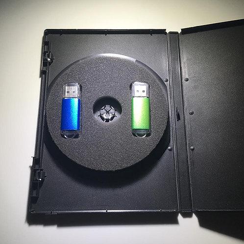 DVD Case Flash Drive Insert