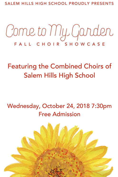"Salem Hills Choir ""Come To My Garden"" October 24, 2018-DVD"