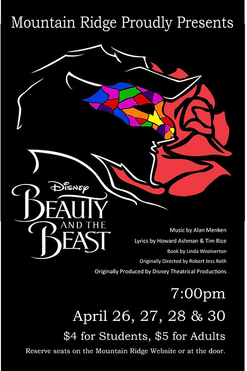 "Mountain Ridge Jr. ""Beauty and the Beast"" April 30, 2018"