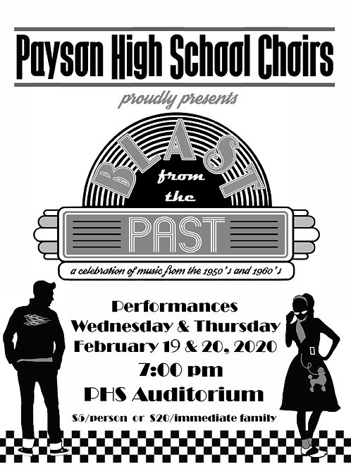 "Payson High ""Blast from the Past"" February 19-20, 2020-DVD"