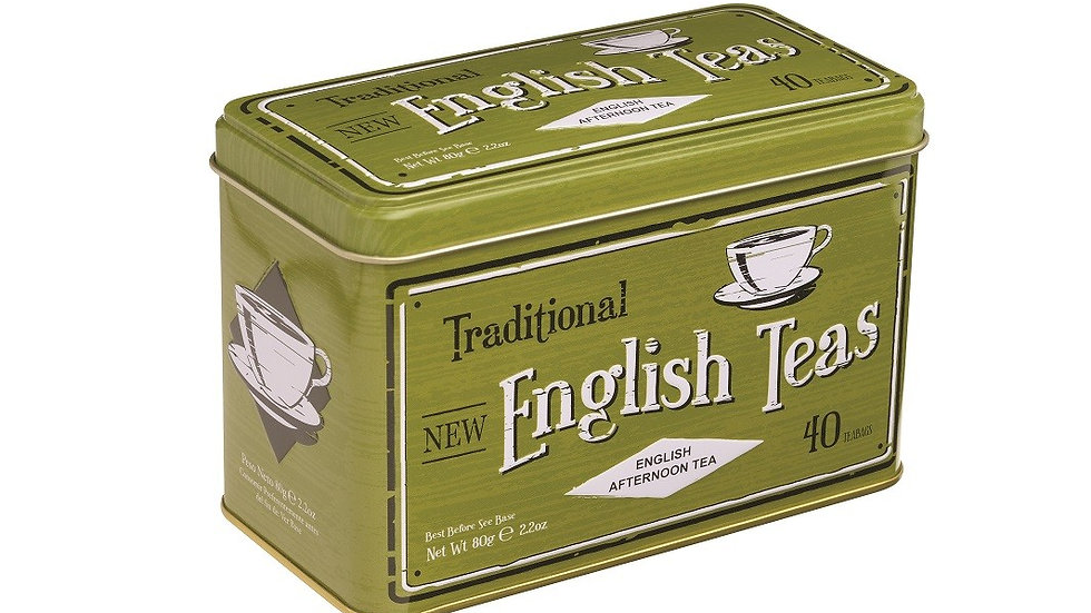 Tea Vintage Tin Green