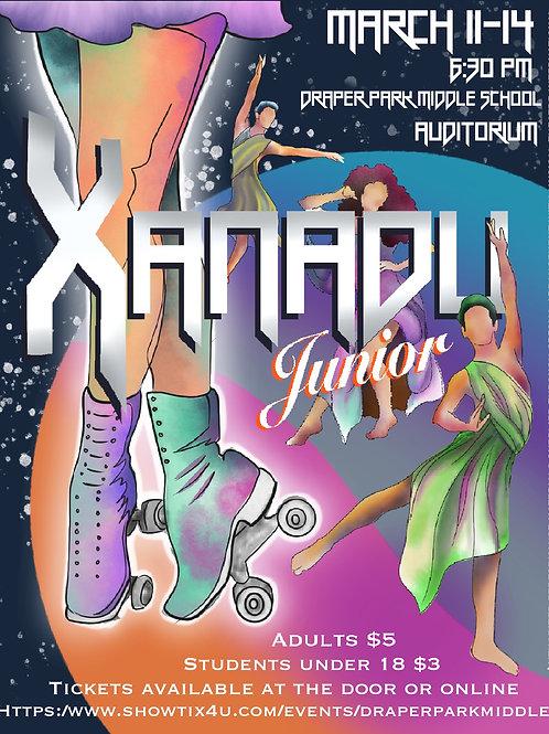 """Draper Park Middle School """"Xanadu"""" March 11, 2020 Cast"""