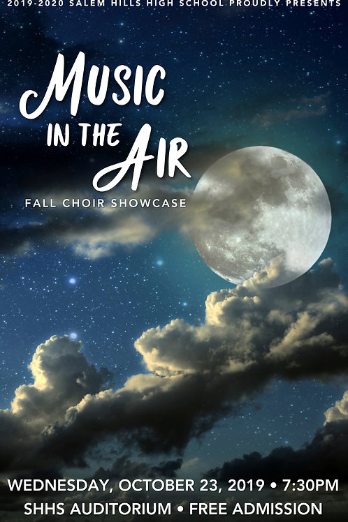 "Salem Hills Choir ""Music in the Air"" October 23, 2019-DVD"