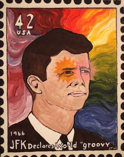 JFK Stamp  (11x14)