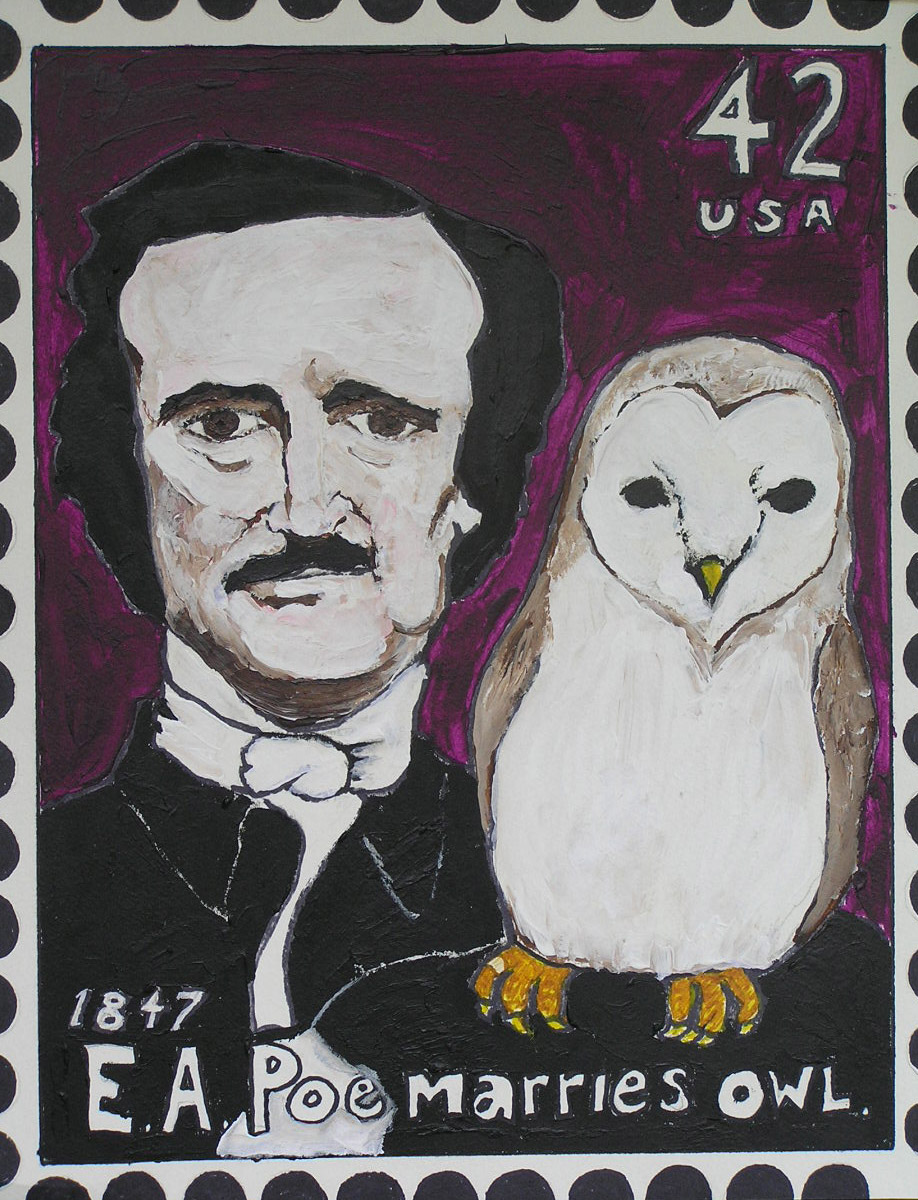 Poe Stamp  (11X14)