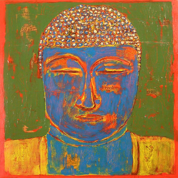 Blue Buddha  (24x24)