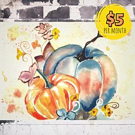 Fall Pumpkin Watercolor