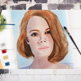 Sulu Boya Kadın Portre Yapımı