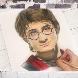 Kuru Boya ile Harry Potter Portresi