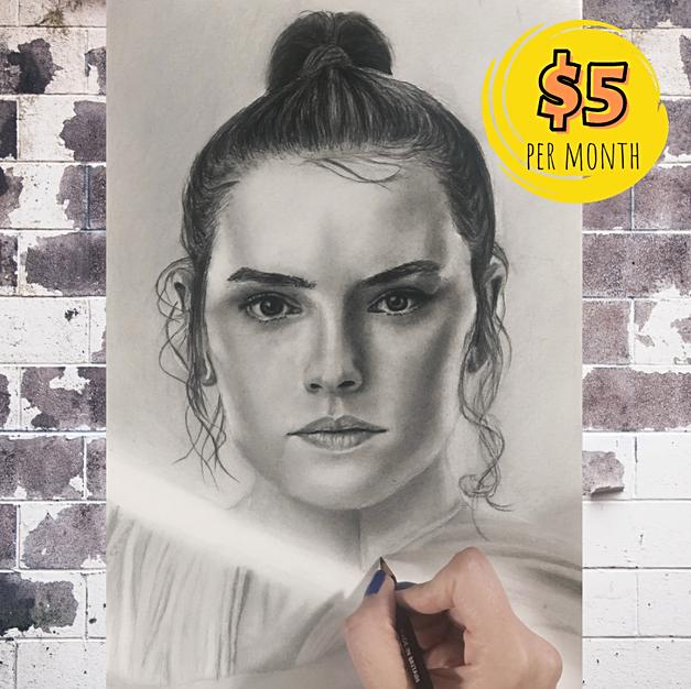 Star Wars' Rey Portrait