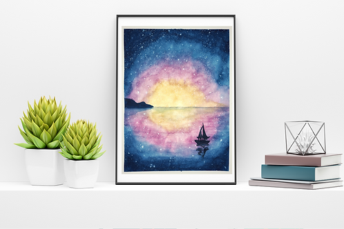 Starry Night Watercolor