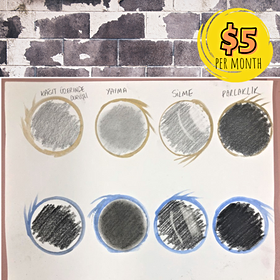 Differences Between Charcoal and Graphite Pencils