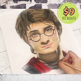 Harry Potter Portrait with Colored Pencils