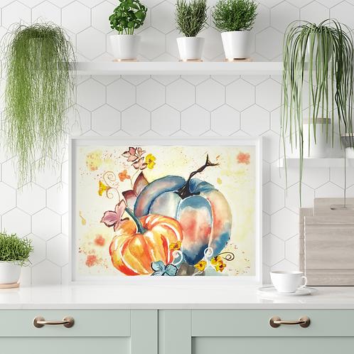 Fall Watercolor Home Decor