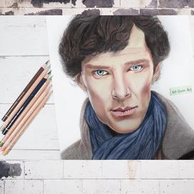 Kuru Boyalarla Sherlock Çizimi