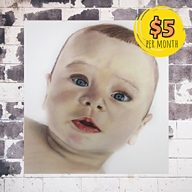 Realistic Baby Portrait