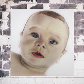 Kuru Boya ile Gerçekçi Bebek Portresi