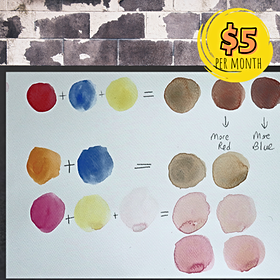How to Create Skin Colors with Watercolor