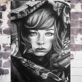Kız ve Şalı Portresi