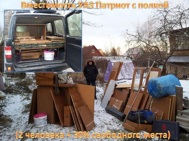 Функциональная полка в УАЗ Патриот_вместимость