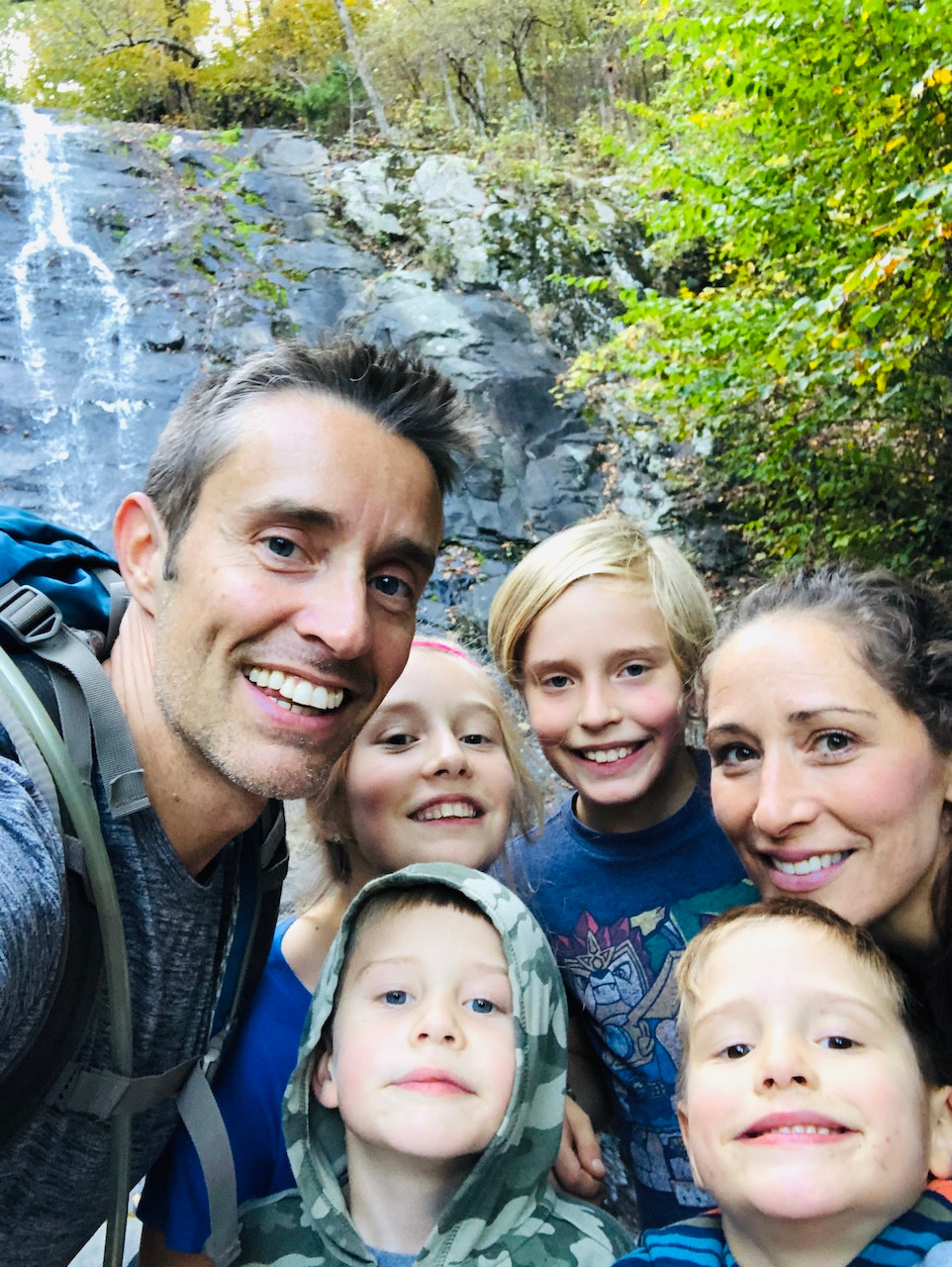 Family hike at White Oak Canyon in VA