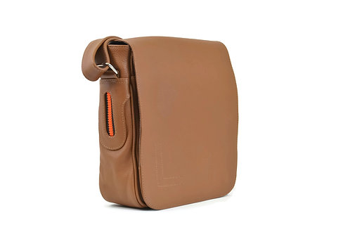 Tan Leather Crossbody Bag for men