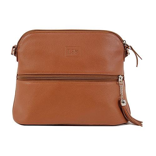 Lily Caramel Crossbody Bag
