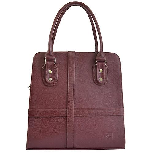 Valencia Burgundy Leather Purse