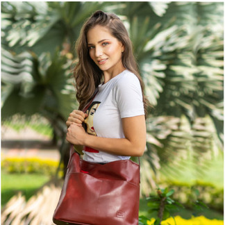 Sofia Vegan Leather Tote Bag