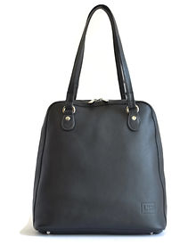 Black Leather Backpack Handbag