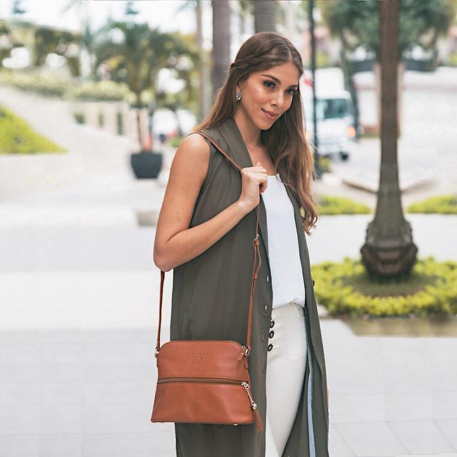 Lily Caramel Leather Crossbody Bag Canada USA