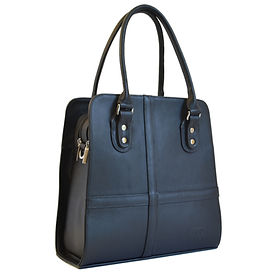 Valencia Black Leather Handbag