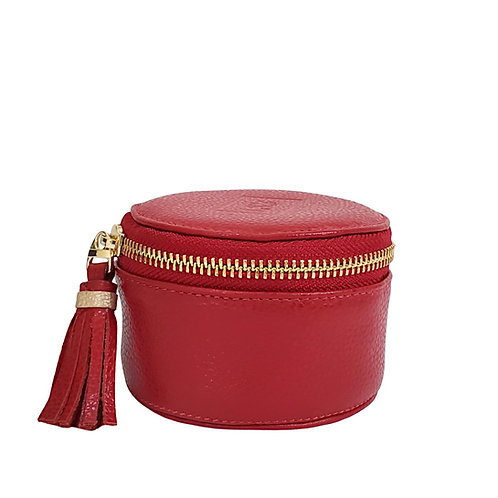 Red Jewelry Leather Box