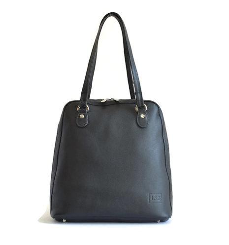 Genuine Black Leather Backpack