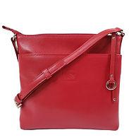 Joy Red Leather Crossbody Bag
