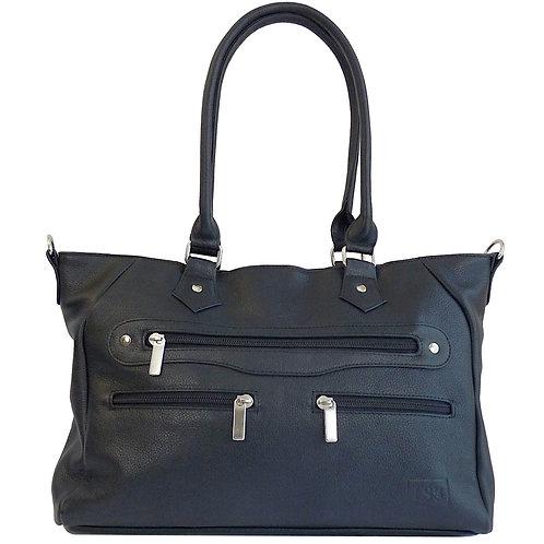 Barcelona Black Leather Handbag