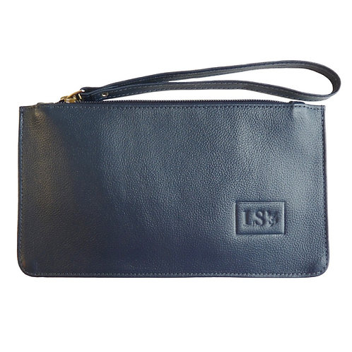Nice Wristlet/Pouch in Blue