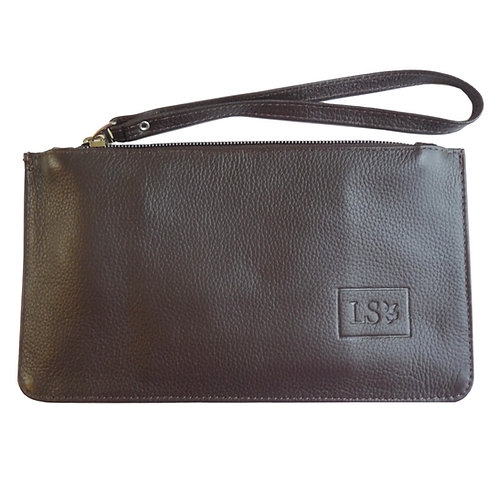 Nice Wristlet/Pouch in Brown