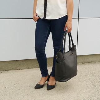 Santa Marta - Leather Handbag with divider pocket