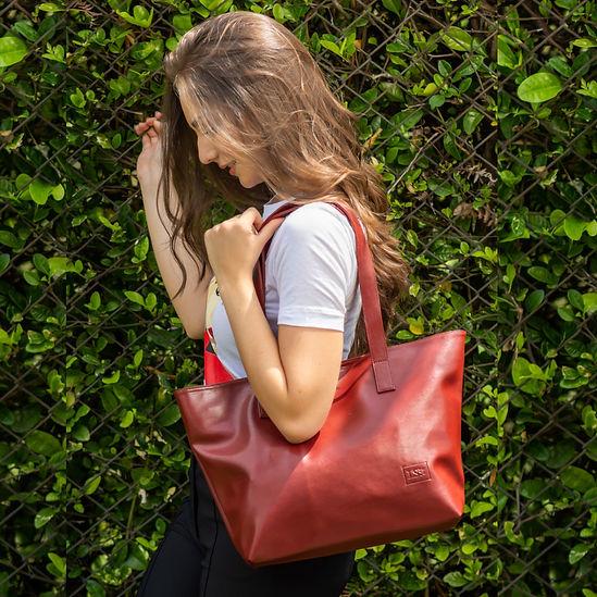 Red Vegan Handbag