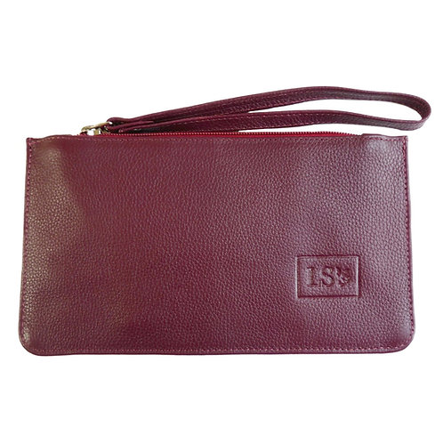 Nice Wristlet/Pouch in Burgundy