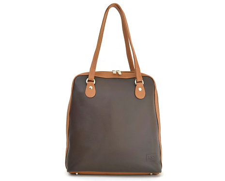 Brown Leather Backpack that converts into Handbag