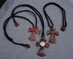 3 copper crosses 'for god's sake''07
