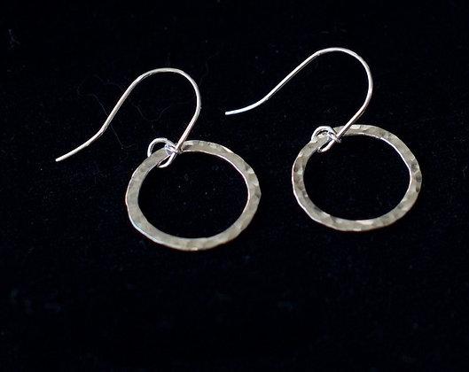 Small Hanging Hoop Earrings