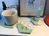 Lovely products, feel very good quality and reasonable price. The sage green is just perfect with my decor and the mug mats are multipurpose