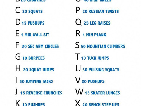 Christmas Workout  - Spell Your Name