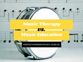 MUSIC LEARNING VS. MUSIC THERAPY