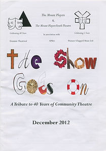 2012 Dec The Show Goes On 1 Cover.jpg
