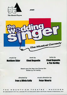 2009 June-July The Wedding Singer Cover.